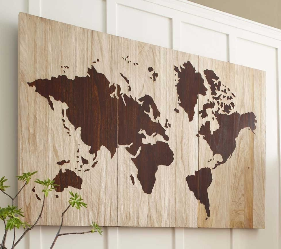 World Map For Wall Art Inside Most Popular How To Create A World Map Wall Art Within – Furlongs (View 15 of 15)