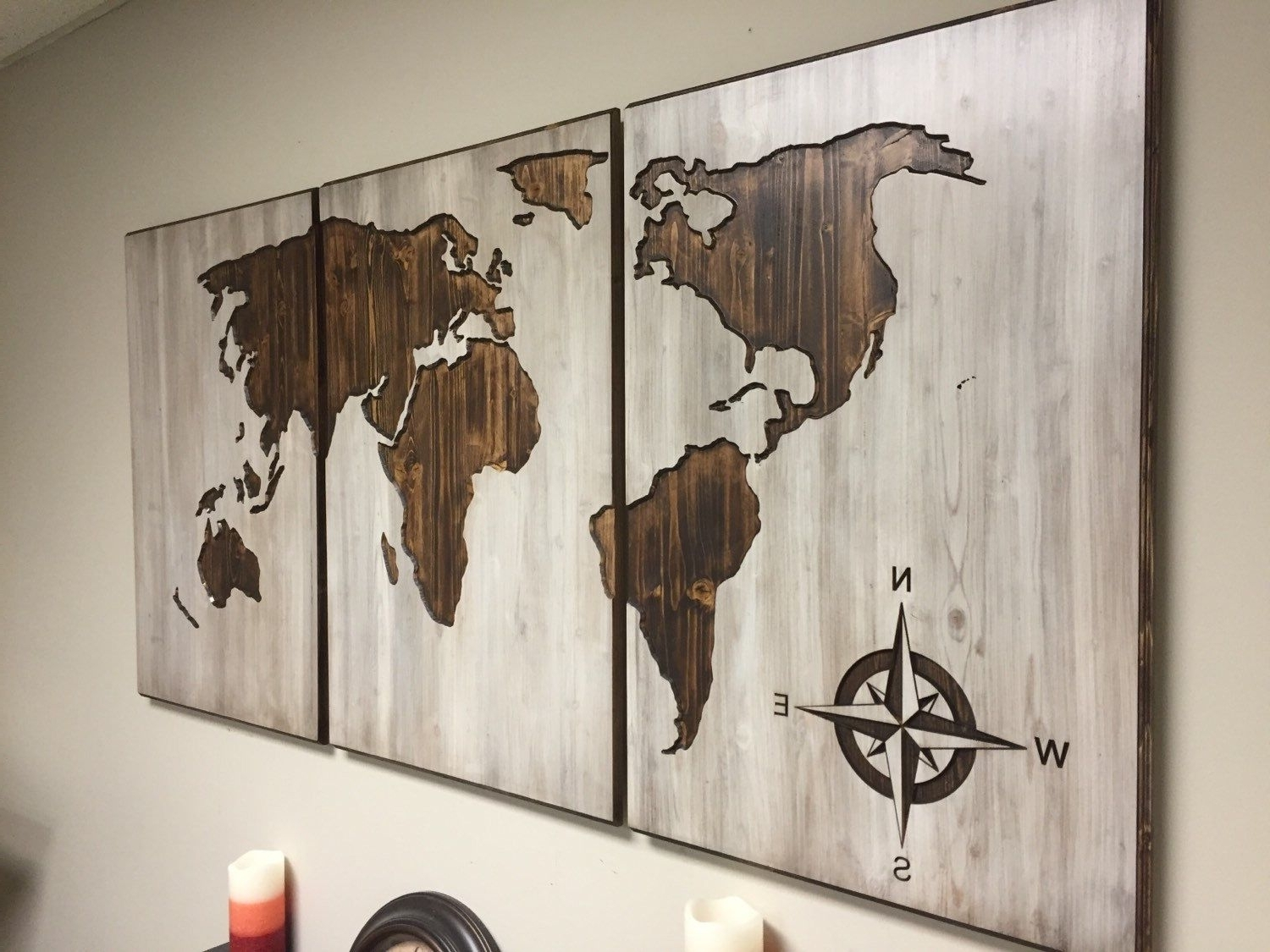 World Map For Wall Art Throughout 2018 A Personal Favorite From My Etsy Shop Https://www (View 5 of 15)