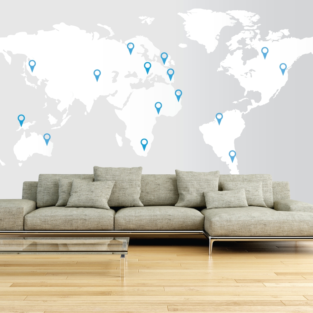 World Map For Wall Art With Regard To Trendy 17 Cool Ideas For World Map Wall Art – Live Diy Ideas (View 15 of 15)