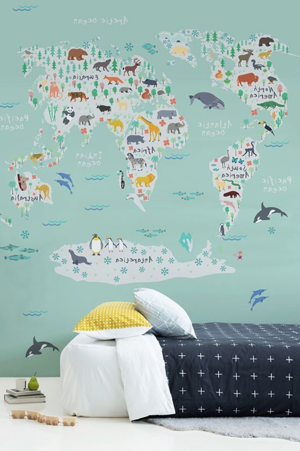 World Map Wall Art For Kids With Widely Used Kids Room: Cute Moutain Wall Art Decor – 18 Awesome Kids Wall (View 15 of 15)
