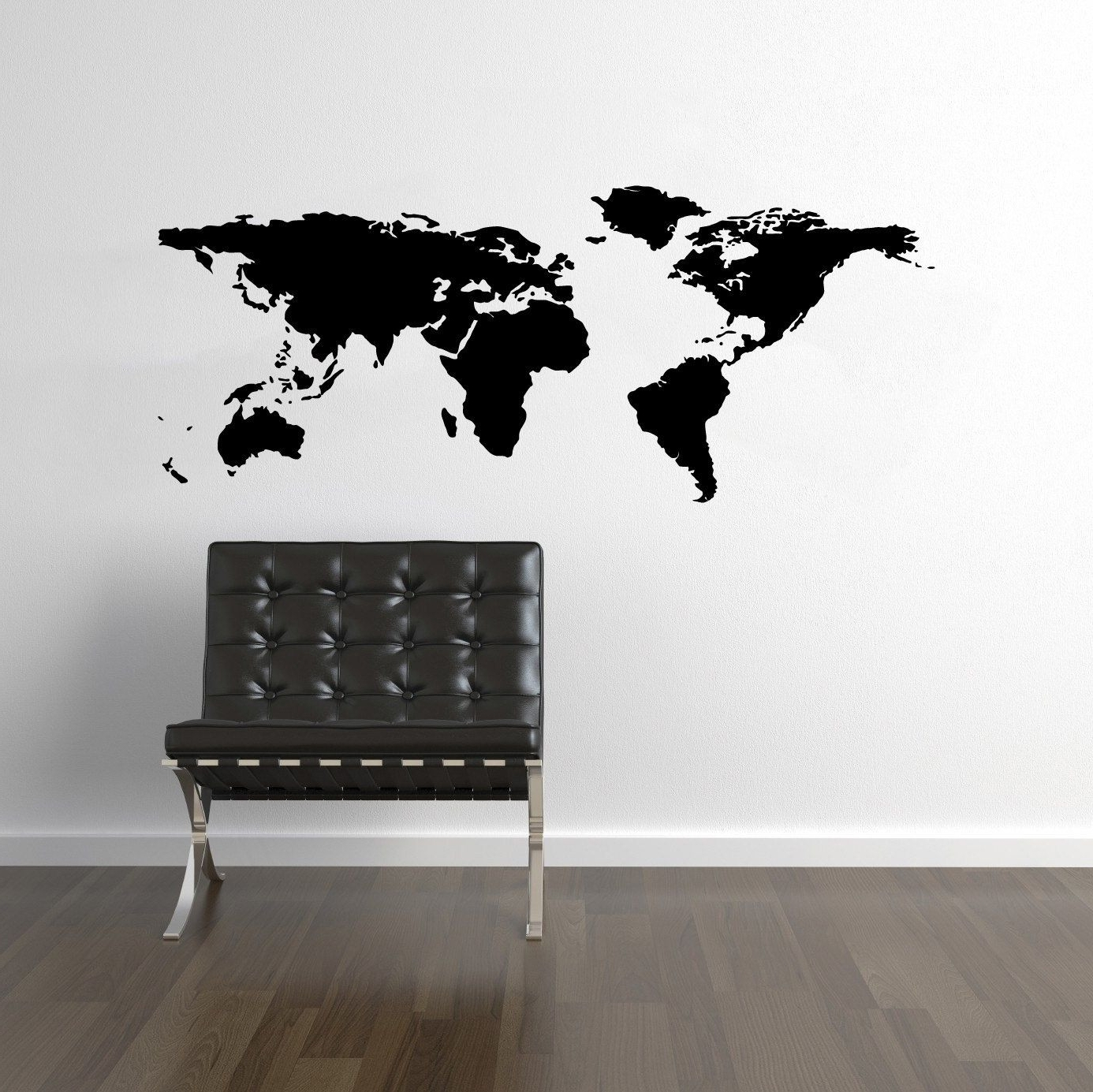 World Map Wall Decal Travel Wall Decor Map Wall Sticker Wal Design In Latest Wall Art Stickers World Map (View 7 of 15)