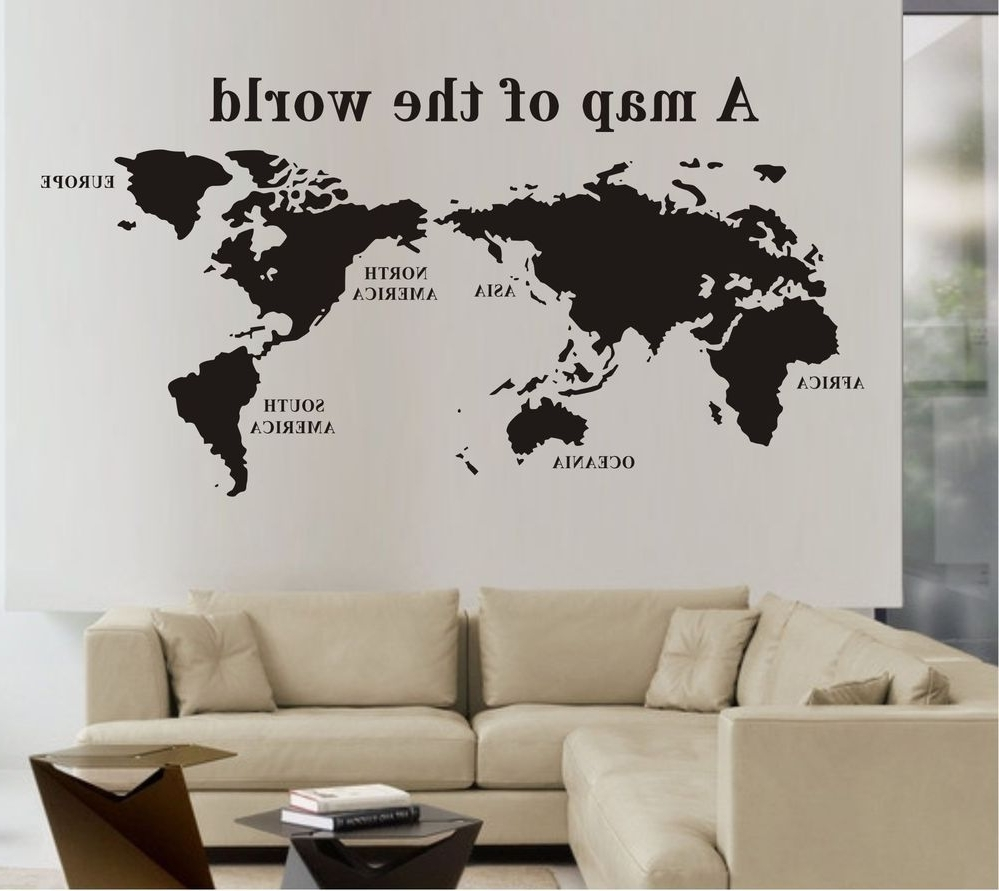 World Map Wall Stickers (View 8 of 15)
