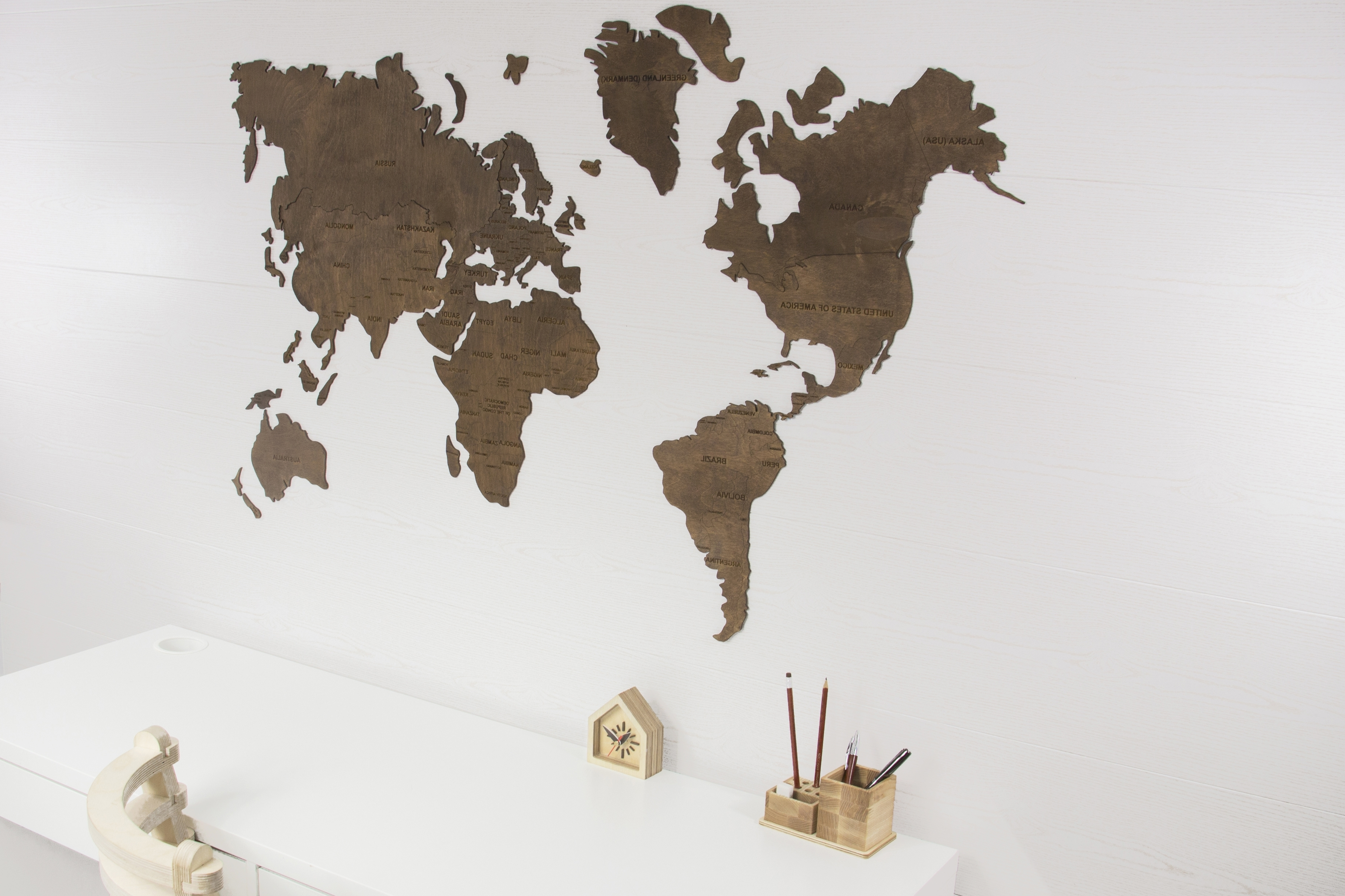World Map Wall, World Map Hanging, World Map Wooden, World Map Wood With Well Liked Map Of The World Wall Art (View 9 of 15)