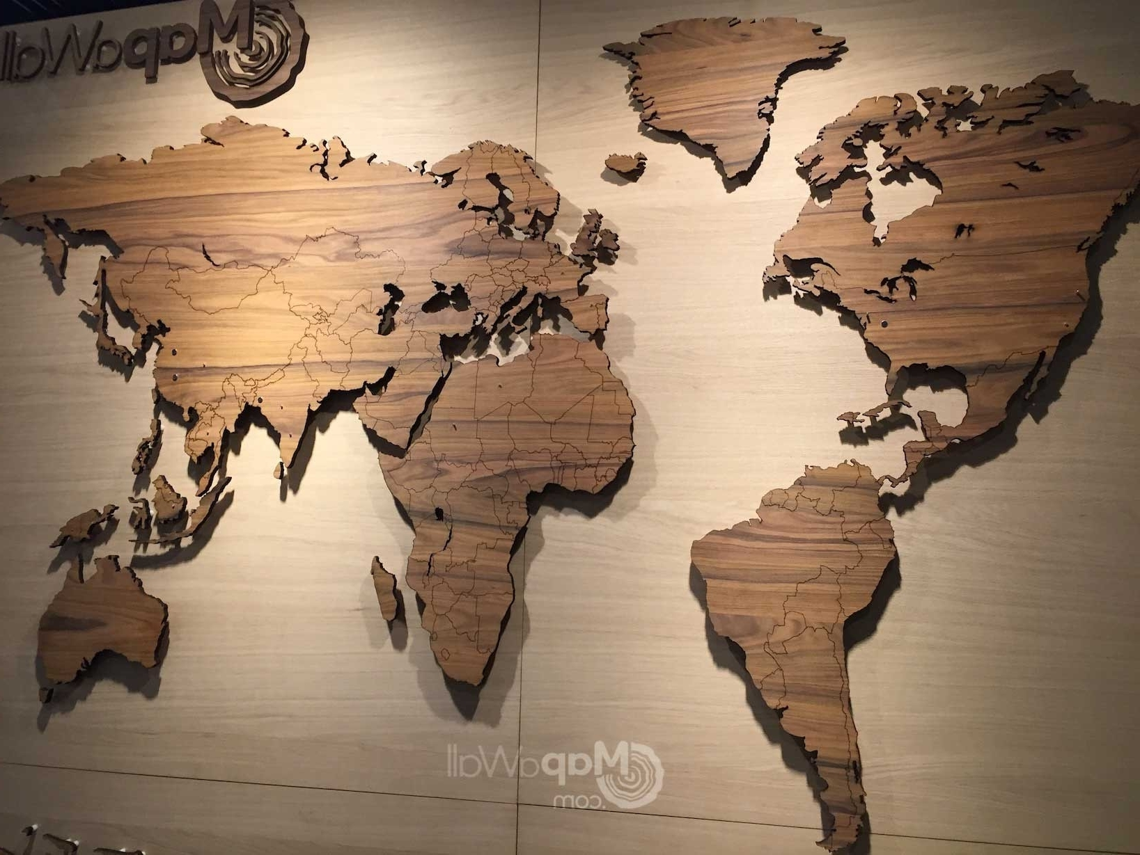World Map Wood Wall Art Intended For Most Current Carved Wooden World Map Wood Wall Art Home Decor In Besttabletfor Me (View 4 of 15)