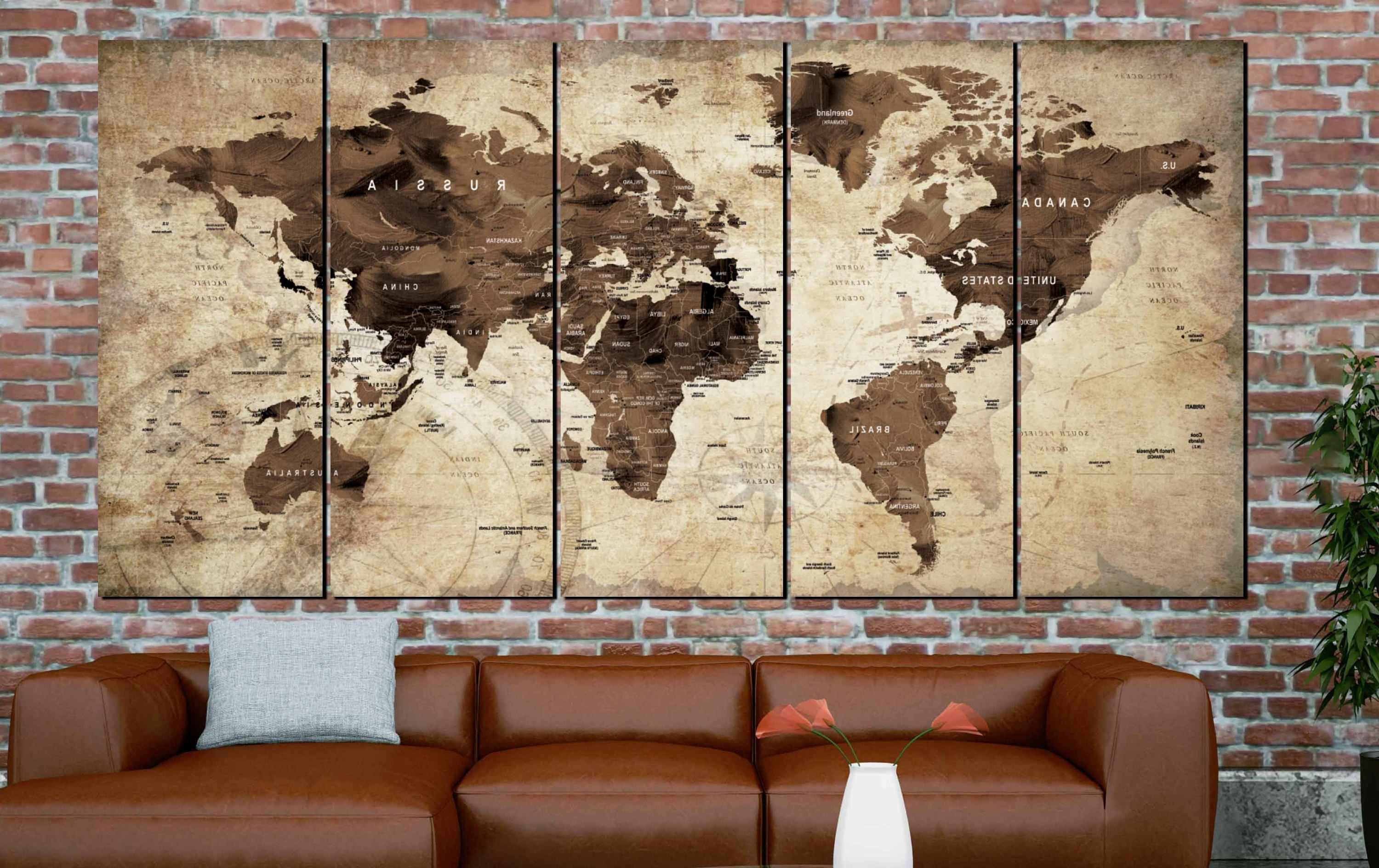 World Map,world Map Vintage,vintage Map Art,world Map Wall Art,world For Most Popular Old World Map Wall Art (View 6 of 15)