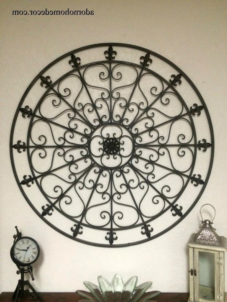 Wrought Iron Wall Art Throughout Newest Fabulous Decorative Wrought Iron Wall Decor Ideas Large Round (View 10 of 15)