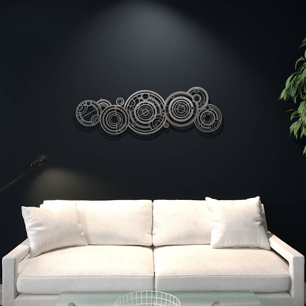 Xl Doctor Who Gallifreyan Large Metal Wall Art, Science Wall Decor Throughout Most Recent Doctor Who Wall Art (View 3 of 15)