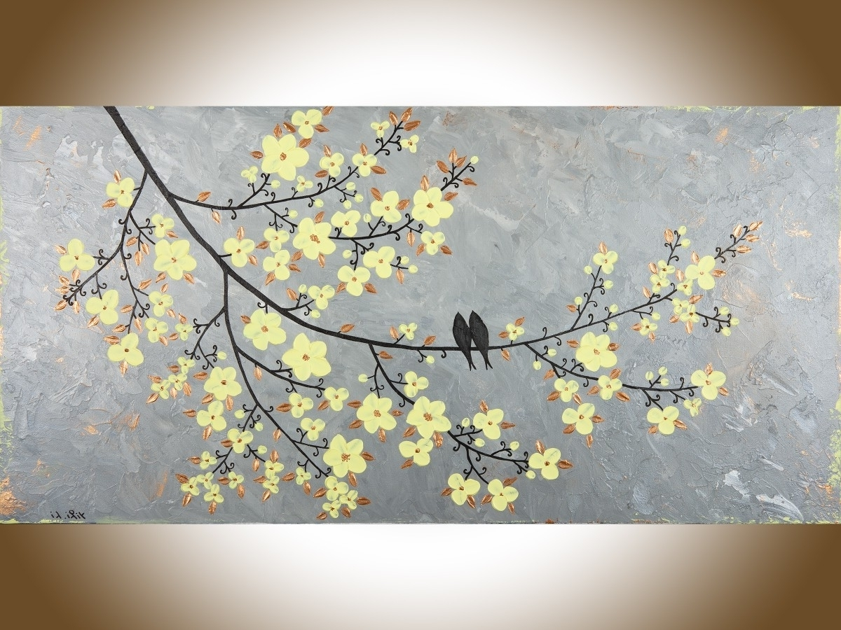 Yellow And Gray Wall Art in Trendy Fresh Canvas Wall Art Yellow Gray