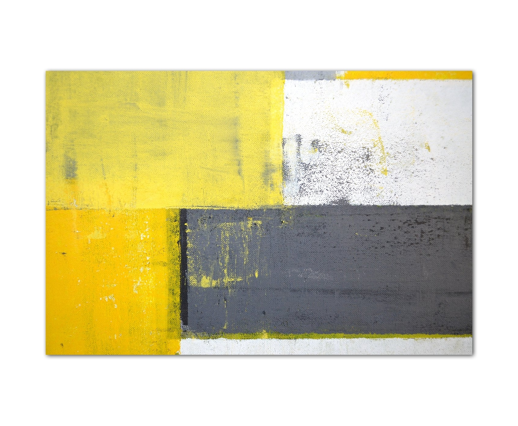 Yellow And Grey Wall Art: Amazon.co.uk regarding 2017 Yellow And Grey Wall Art
