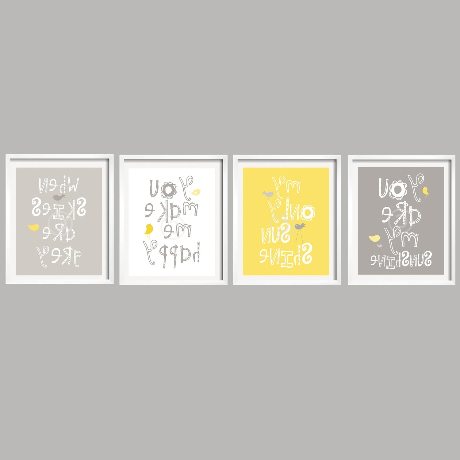 Yellow And Grey Wall Art - Jscollectionofficial for Famous Yellow Wall Art