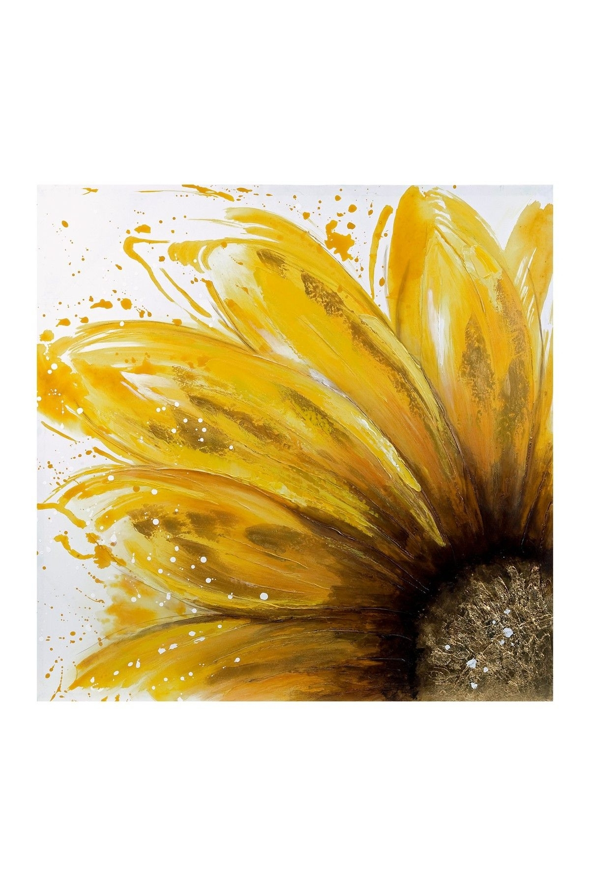 Yellow Daisy Oil Painting Canvas Wall Art On @hautelook (View 15 of 15)
