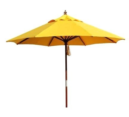 Yellow Patio Umbrella – Wheresthecommon in Well-liked Yellow Patio Umbrellas