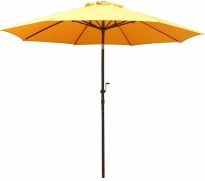 Yellow Sunbrella Patio Umbrellas Intended For Most Up To Date 11' Commercial Grade Aluminum Market Umbrella (View 4 of 15)