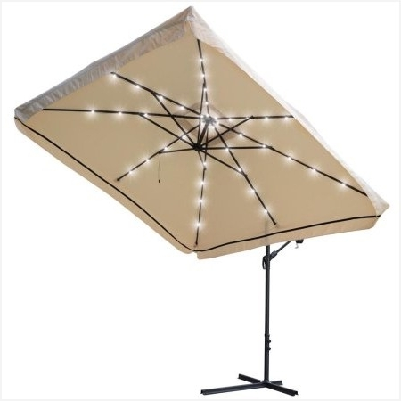 Yescom Patio Umbrellas For Famous 14 Ft Patio Umbrella » Comfy Yescom 9X9Ft Square Solar Power Led (View 4 of 15)