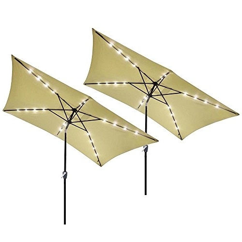 Yescom Patio Umbrellas throughout Favorite Yescom 10' X 6.5' Rectangle Aluminum Solar Outdoor Crank Tilt Patio