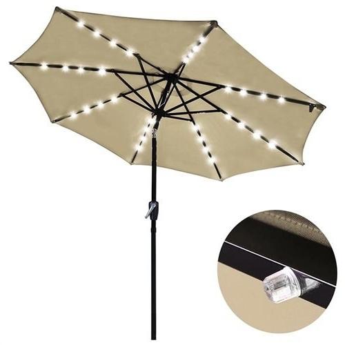 Yescomusa: 9' Patio Umbrella W/ Pre Installed 32 Solar Powered Leds With Regard To Newest Yescom Patio Umbrellas (View 9 of 15)