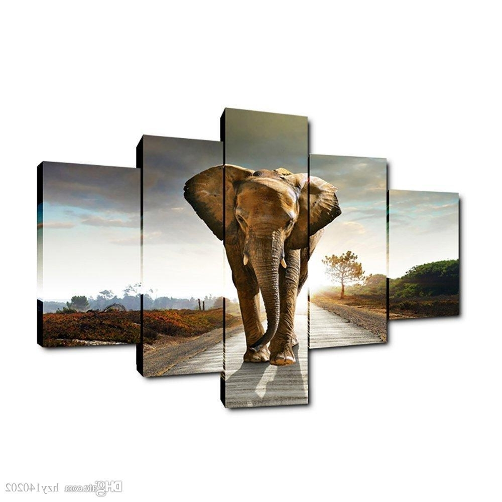 Yijiahe Dw5 Canvas Painting Art Elephant Wall Art Pictures Print On Intended For 2018 Elephant Wall Art (View 15 of 15)