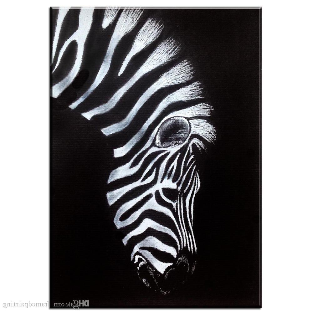 Zebra Canvas Wall Art Inside Fashionable 2018 Black And White Canvas Wall Art Print Zebra Canvas Animal Oil (View 9 of 15)