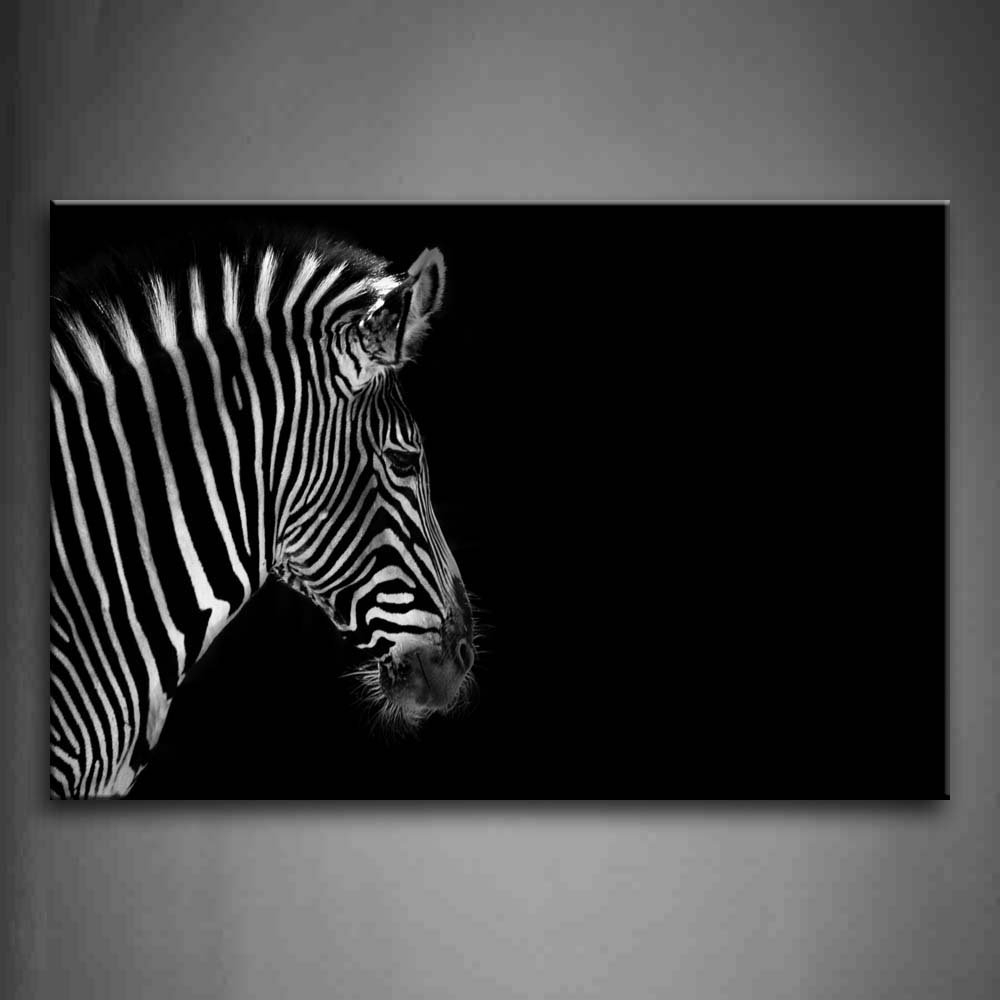 Zebra Canvas Wall Art Inside Latest Print On Canvas Animal For Home Decoration Wall Art Black And White (View 10 of 15)