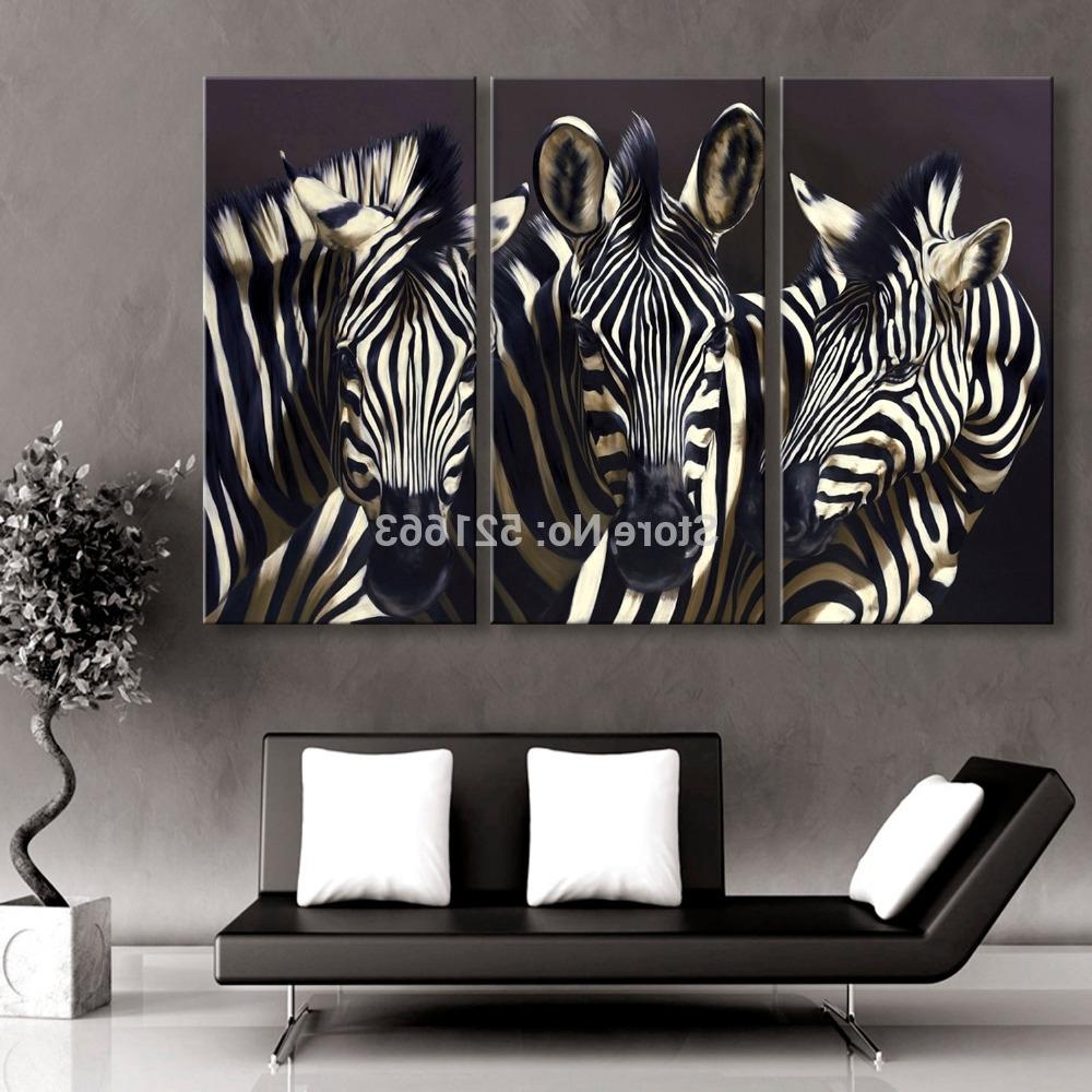 Zebra Canvas Wall Art Regarding Newest Zebra Canvas Wall Art – Unavocecr (View 5 of 15)
