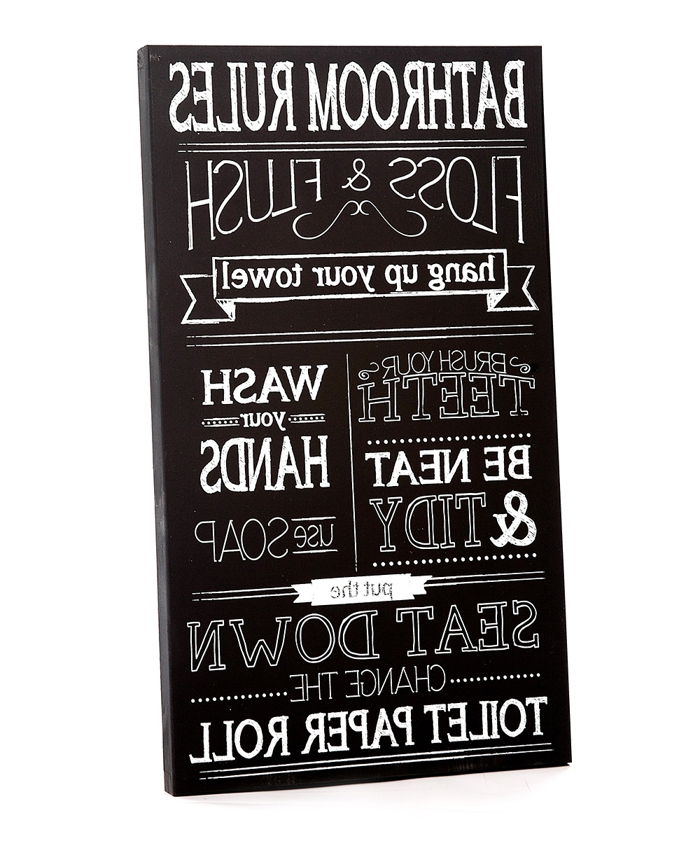 Zulily Pertaining To Newest Bathroom Rules Wall Art (View 4 of 15)