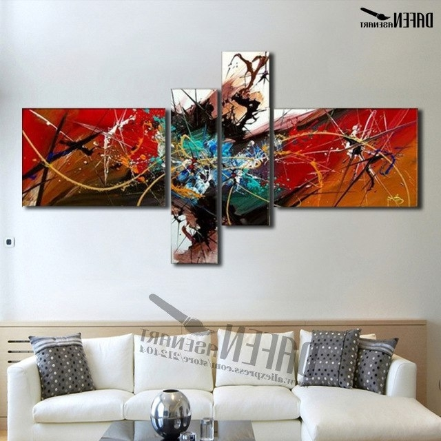 [%100% Colorful Hand Painted Canvas Abstract Oil Painting Multi Panel Pertaining To Most Recent Multi Panel Canvas Wall Art|Multi Panel Canvas Wall Art Intended For Most Current 100% Colorful Hand Painted Canvas Abstract Oil Painting Multi Panel|Well Liked Multi Panel Canvas Wall Art Pertaining To 100% Colorful Hand Painted Canvas Abstract Oil Painting Multi Panel|2018 100% Colorful Hand Painted Canvas Abstract Oil Painting Multi Panel Pertaining To Multi Panel Canvas Wall Art%] (View 6 of 15)