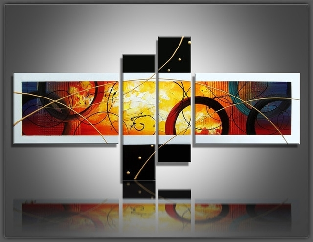 [%100% Hand Painted Canvas Abstract Oil Painting Multi Panel Canvas Within Popular Multiple Panel Wall Art|Multiple Panel Wall Art Inside Most Up To Date 100% Hand Painted Canvas Abstract Oil Painting Multi Panel Canvas|2017 Multiple Panel Wall Art With 100% Hand Painted Canvas Abstract Oil Painting Multi Panel Canvas|Popular 100% Hand Painted Canvas Abstract Oil Painting Multi Panel Canvas In Multiple Panel Wall Art%] (View 2 of 15)