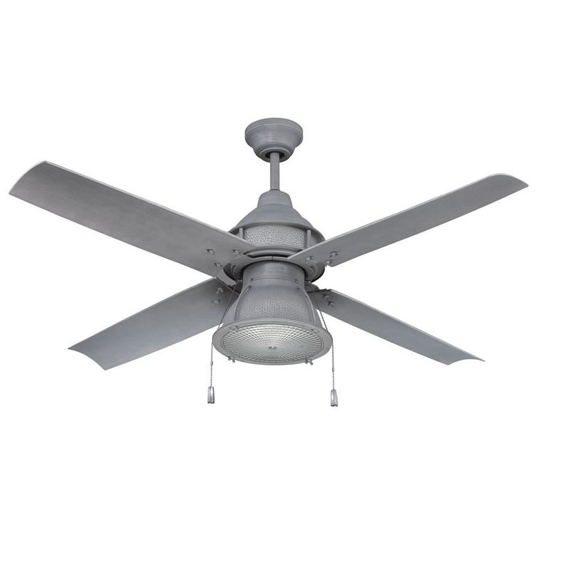 "17 Stories 52"" Martika 4 Blade Outdoor Led Ceiling Fan & Reviews Pertaining To Current Grey Outdoor Ceiling Fans (Gallery 6 of 15)"
