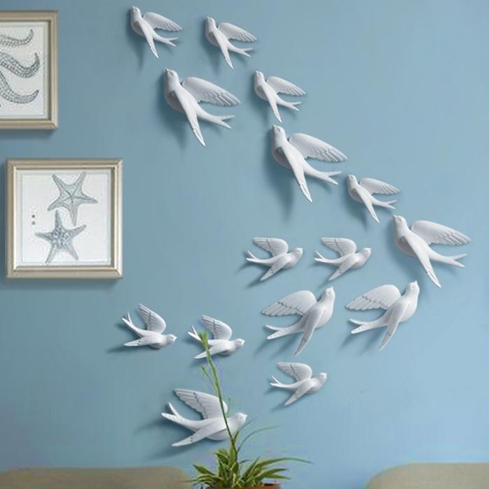 18. Seagull Wall Art Beach Decor 3D Bird Wall Art White Birds Within Popular White Birds 3D Wall Art (Gallery 9 of 15)
