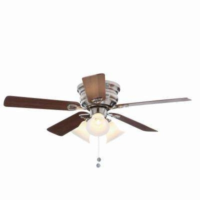 20 Inch Outdoor Ceiling Fans With Light For Current Flush Mount – Ceiling Fans – Lighting – The Home Depot (View 2 of 15)