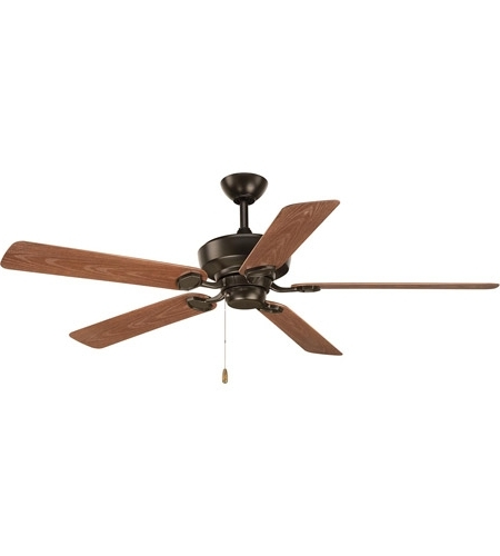 20 Inch Outdoor Ceiling Fans With Light For Widely Used Progress P2562 20 Lakehurst 60 Inch Antique Bronze With Walnut (View 4 of 15)