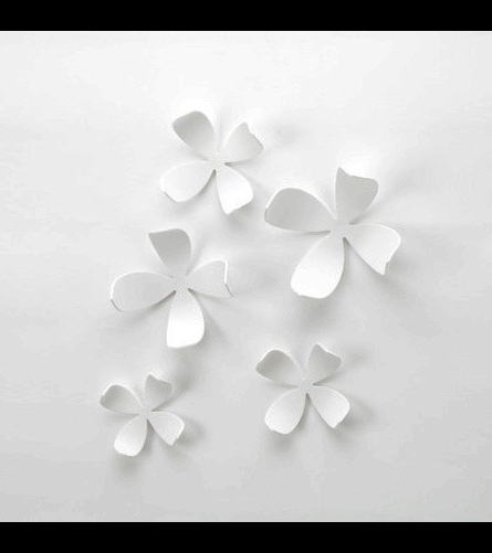 20 Metal Flower Wall Decor Target, Umbra Wall Flowers Set Pertaining To 2017 Umbra 3D Flower Wall Art (View 1 of 15)