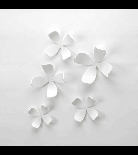 20 Metal Flower Wall Decor Target, Umbra Wall Flowers Set Pertaining To 2017 Umbra 3D Flower Wall Art (View 15 of 15)