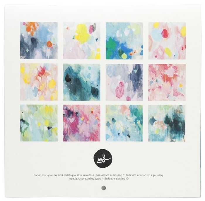 2015 Abstract Belinda Marshall Wall Calendar $35 In The Decor8 Shop For Popular Abstract Calendar Art Wall (View 1 of 15)