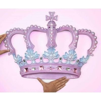 2017 3D Princess Crown Wall Art Decor Pertaining To Beetling Design Crown 3D Wall Art Decor (View 1 of 15)