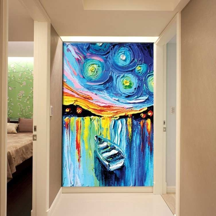 2017 3D Wall Art Canvas With Regard To 3D Painting On Canvas Beautiful 3D Canvas Painting Abstract (View 1 of 15)