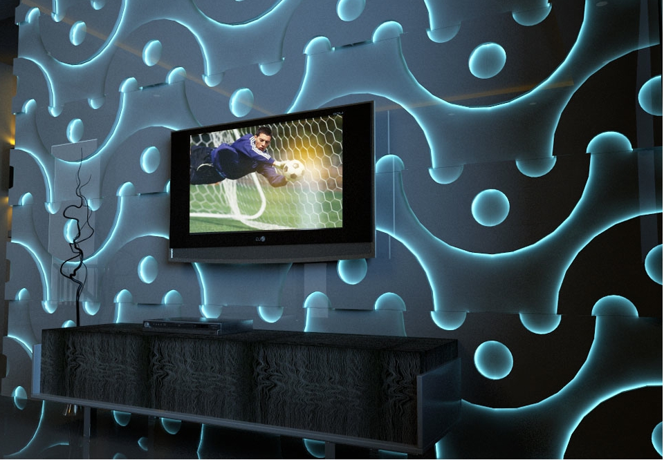 2017 3D Wall Art With Lights Inside 3D Led Wall Panel (View 1 of 15)