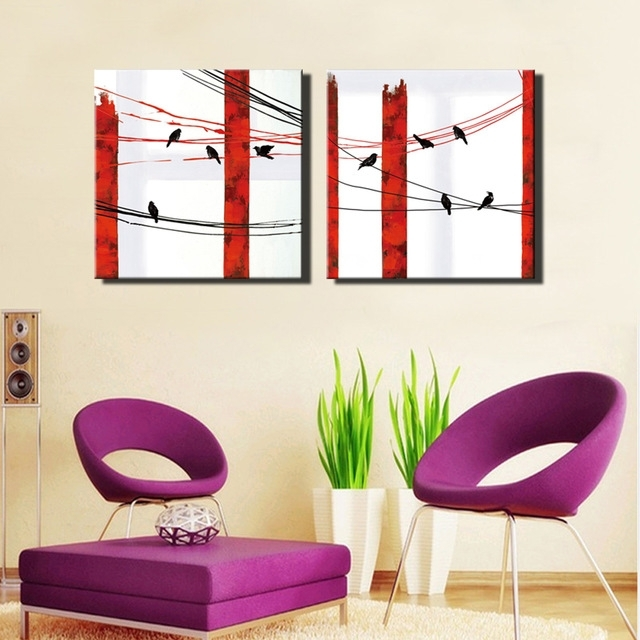 2017 Abstract Birds Wall Art Posters Unframed Nordic Style Animals In Abstract Bird Wall Art (View 1 of 15)