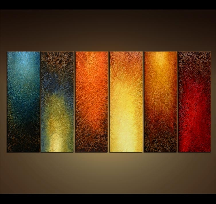 2017 Abstract Wall Art Group Painting On Canvas Home Decor Wall Hanging In Abstract Art Wall Hangings (View 7 of 15)
