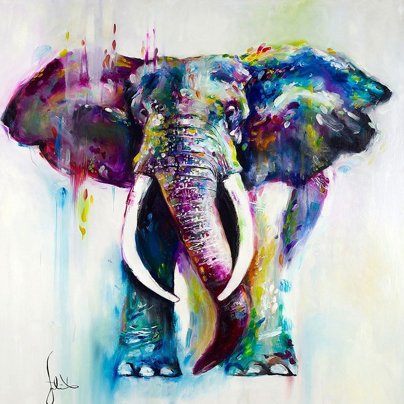 2017 Animal Pattern Picture Home Wall Decor Modern Abstract Canvas Oil Intended For Abstract Animal Wall Art (View 1 of 15)