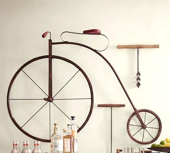 2017 Bicycle Wall Art High Wheel Bicycle Wall Art Bicycle Wall Art Metal in Metal Bicycle Wall Art