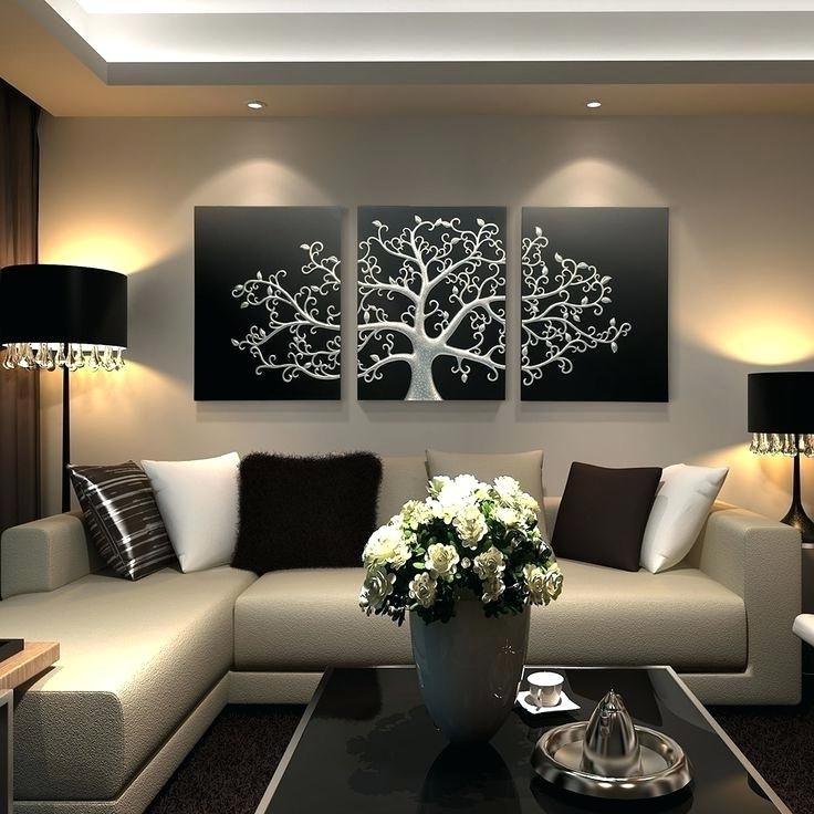 2017 Black Silver Wall Art Pertaining To 3 Picture Wall Art Black And Silver Wall Art Google 3 Picture Framed (View 15 of 15)