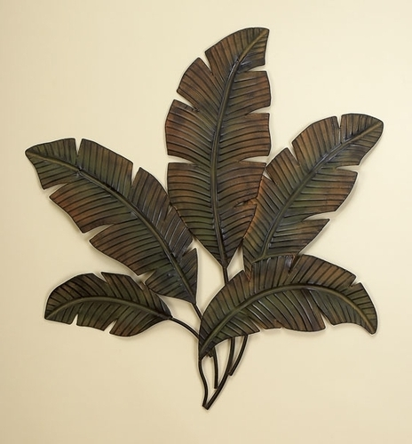2017 Buy Large Palm Leaf Metal Wall Decor Sculpture, Leaf Metal, Leaf Inside Abstract Leaf Metal Wall Art (View 2 of 15)