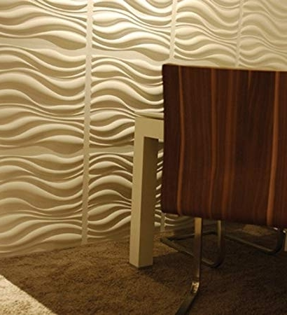 """2017 Buy Wallart """"waves"""" (3D Wall Panels, 500Mm X 500Mm Or  (View 1 of 15)"""