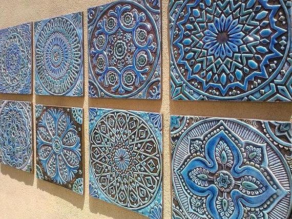 2017 Ceramic Tile Wall Art with Decorative Outdoor Wall Tiles Set Of 6 Ceramic Tiles Bathroom Tiles