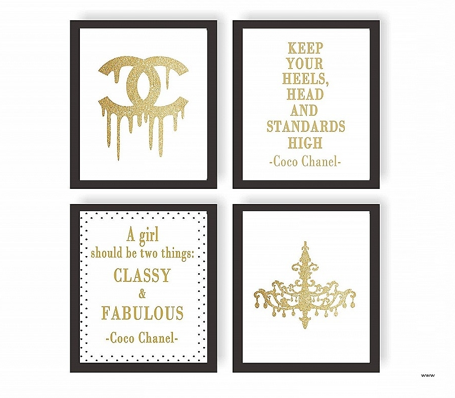 2017 Coco Chanel Quotes Framed Wall Art For Wall Art (View 1 of 15)