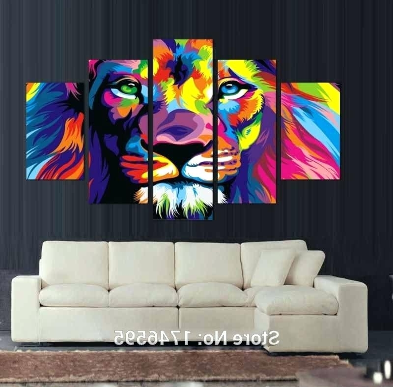 2017 Colorful Wall Decor Big Size Abstract Living Room Wall Decor Intended For Abstract Lion Wall Art (View 1 of 15)