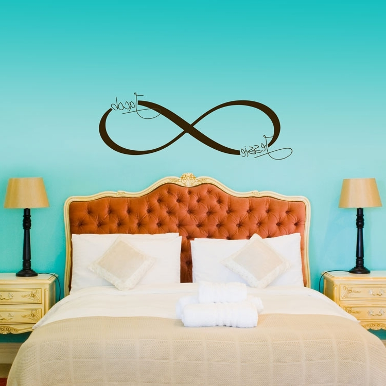 2017 Customized Wall Art inside Infinity Name Room Inspirational Customized Wall Decals - Home