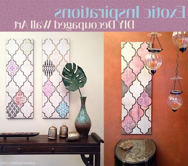 2017 Decoupage Wall Art Inside Diy Decoupage Wall Art With A Flair For The Exotic (View 1 of 15)