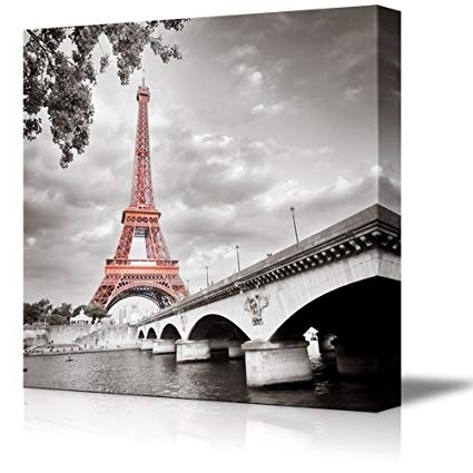 2017 Eiffel Tower Wall Hanging Art Inside Amazon: Wall26 Canvas Prints Wall Art – Eiffel Tower In Paris (Gallery 11 of 15)